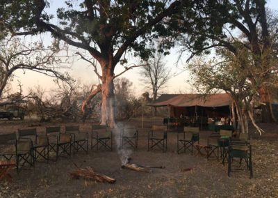 Roger Dugmore Safaris camp early morning